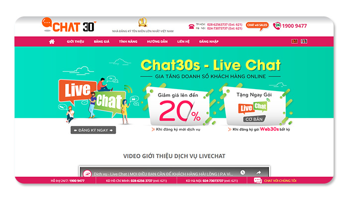 phần mềm ứng dụng live chat chat 30s