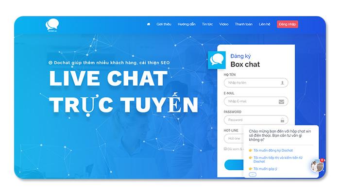 phần mềm ứng dụng live chat Dochat