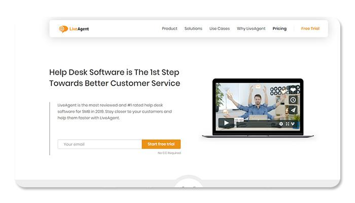 phần mềm ứng dụng live chat liveagent