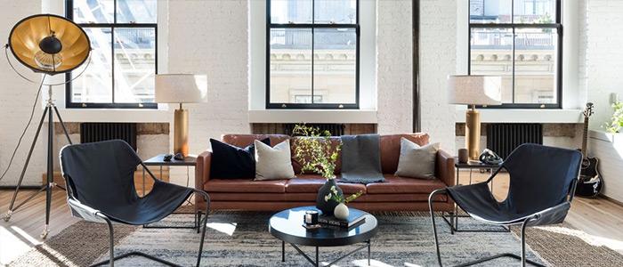 phong cách nội thất phòng khách kiểu New York