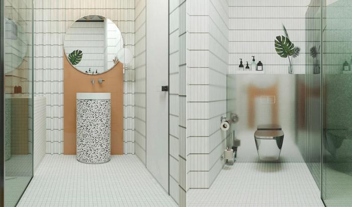 phong cách thiết kế nhà tắm hiện đại