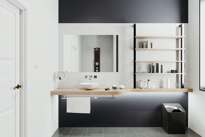phong cách thiết kế nhà tắm tối giản đẹp