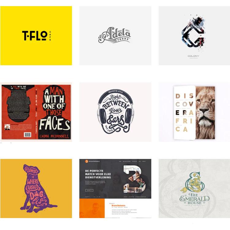 phong cách thiết kế typography