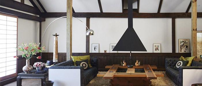 phòng khách được thiết kế phong cách Nhật Bản