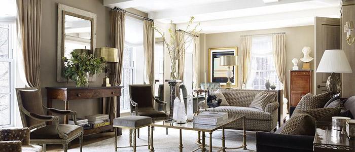 phòng khách theo phong cách Gramercy Park