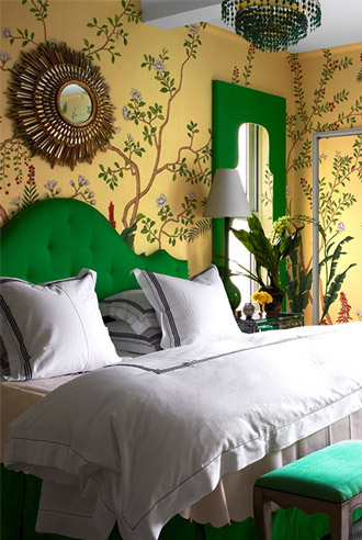 phòng ngủ theo phong cách khu rừng