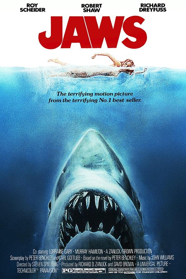mẫu poster phim jaws