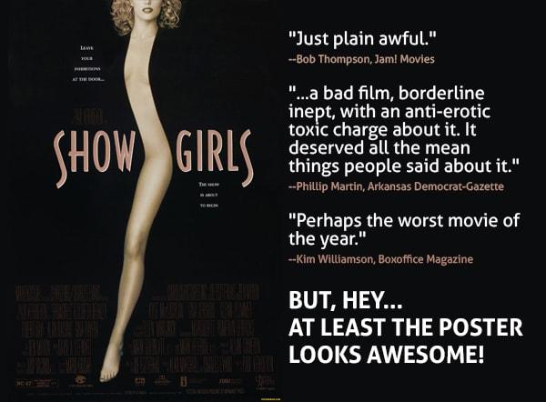 mẫu poster phim show girls