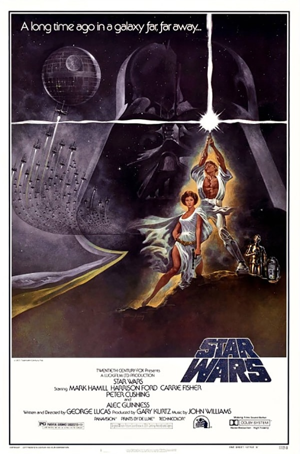 mẫu poster phim star wars new hope