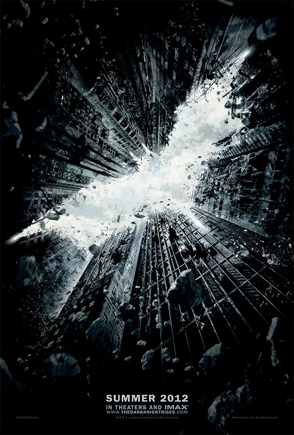 mẫu poster phim the dark knight rises
