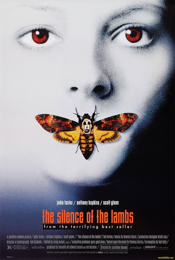 mẫu poster phim silence of the lambs