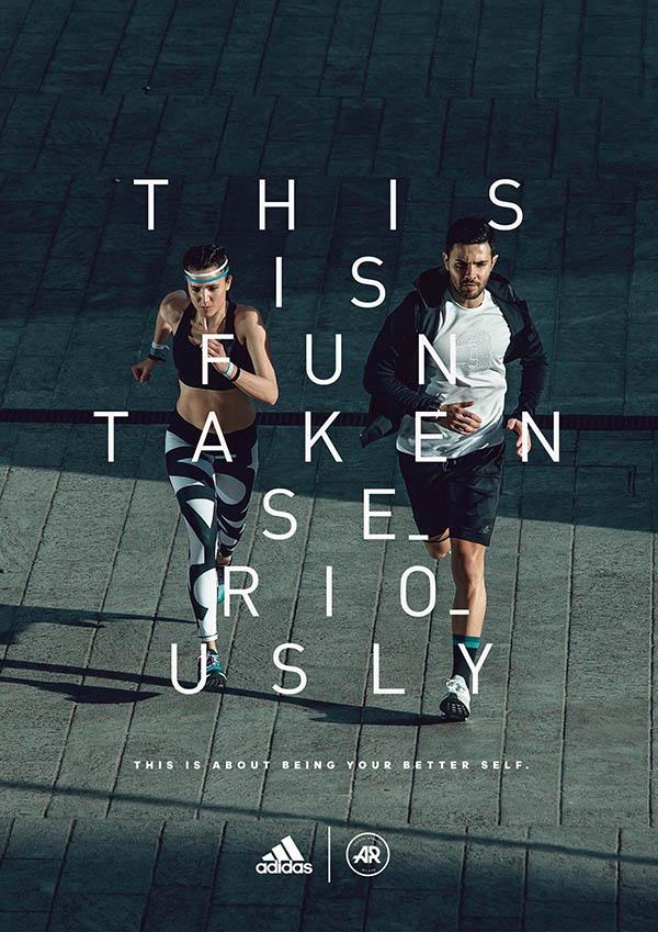 poster quảng cáo của adidas