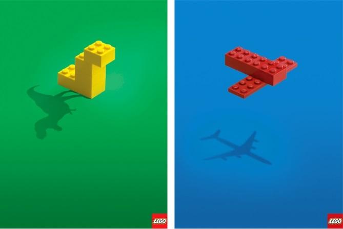 poster quảng cáo của lego