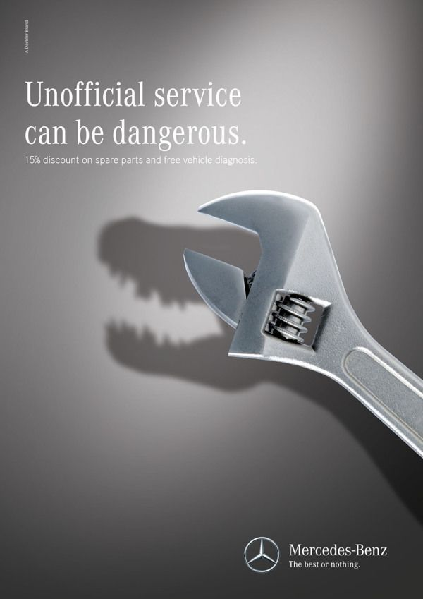 poster quảng cáo của mercedes