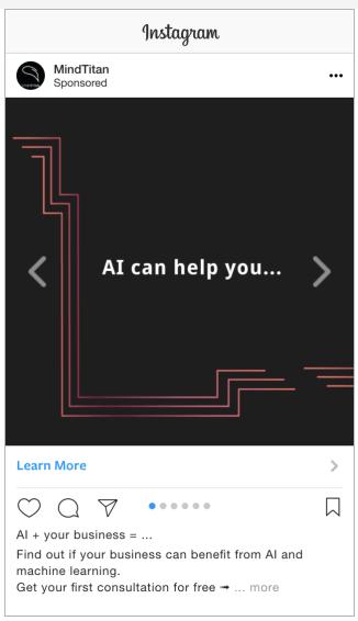 quảng cáo instagram carousel