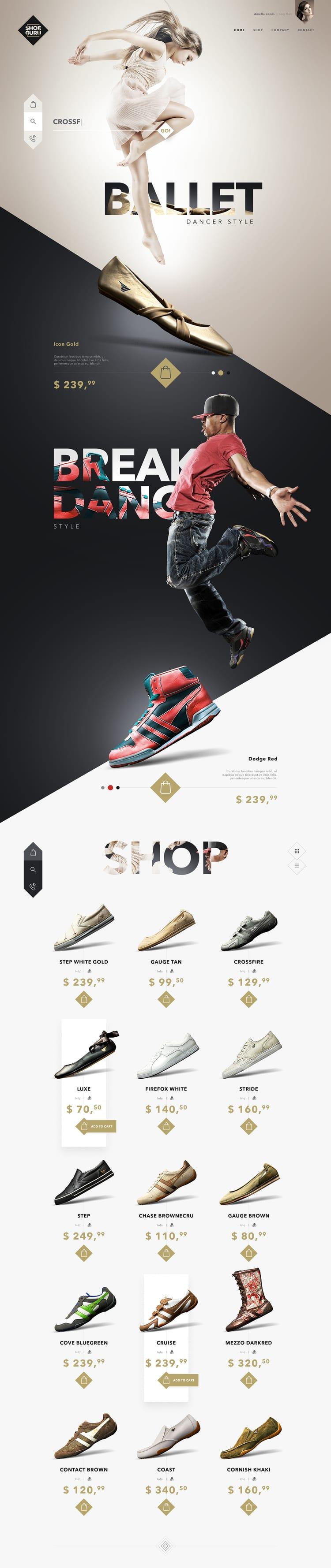 Thiết kế Catalogue của Shoe Guru