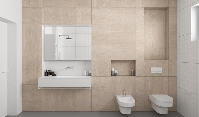 sử dụng các tấm gỗ mịn cho phòng tắm của bạn