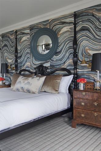 sử dụng giấy dán tường trong thiết kế phòng ngủ