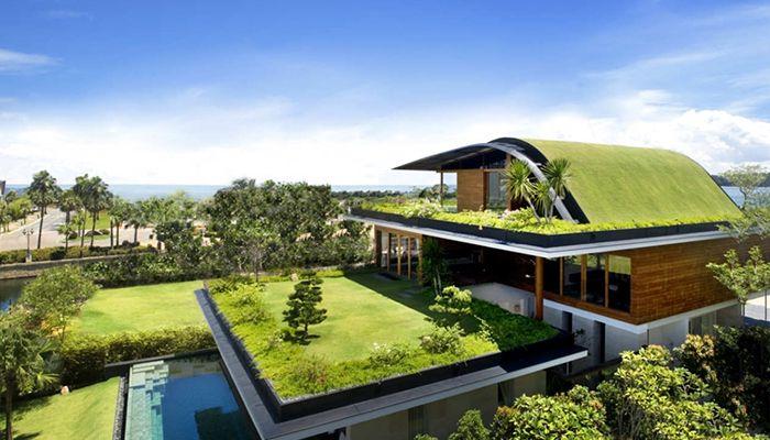 sử dụng mái nhà xanh cho thiết kế
