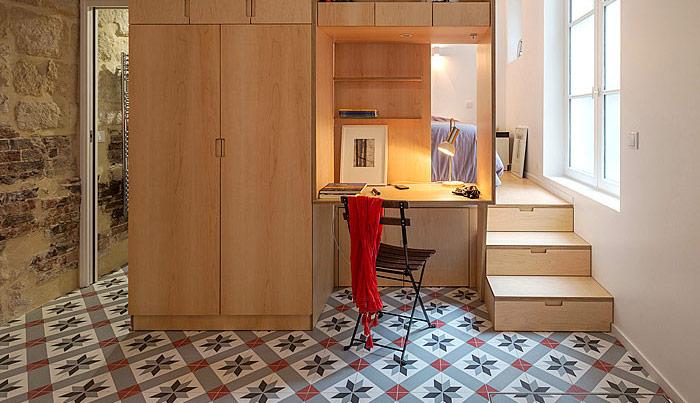 sự kết hợp giữa lớp sàn và tường nhà