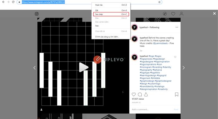 tải video hình ảnh Instagram trên máy tính 2