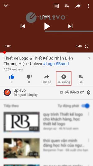 tải video từ Youtube về ứng dụng điện thoại 1