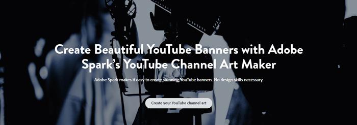 tạo ảnh bìa Youtube bằng Adobe Spark