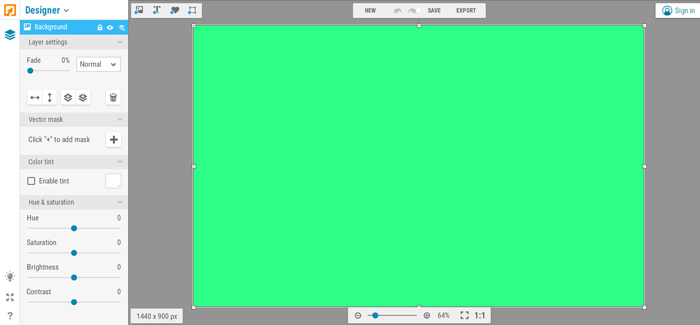 tạo ảnh bìa Youtube bằng iPiccy