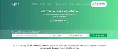 tạo CV online TopCV