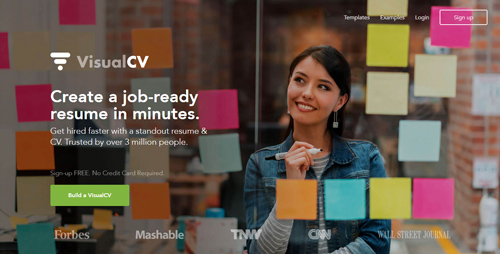 tạo CV online VisualCV