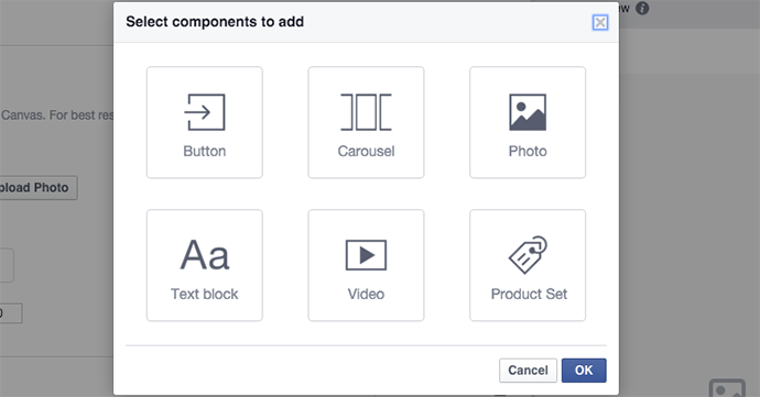 tạo facebook canvas 7