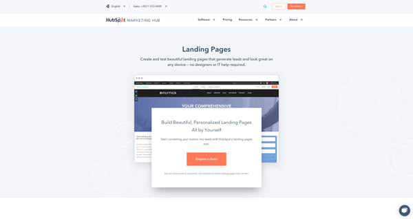 tạo landing page hubspot