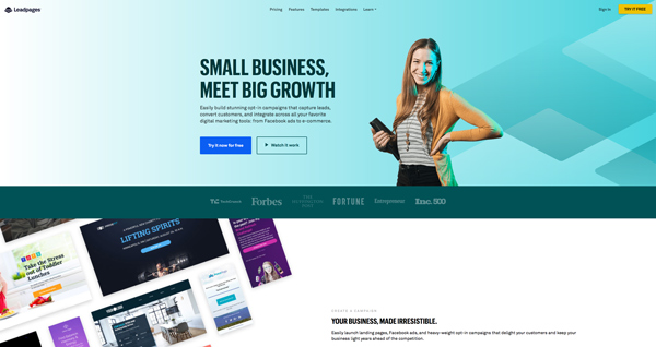 tạo landing page leadpages