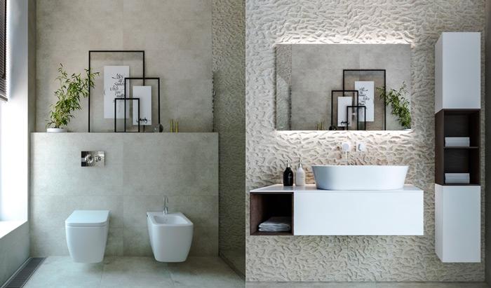 tạo lập các khối vuông cho thiết kế nhà tắm