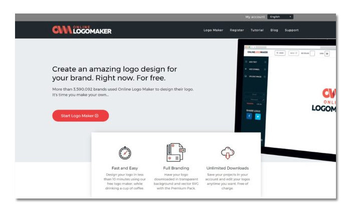 tạo logo online với online logo maker