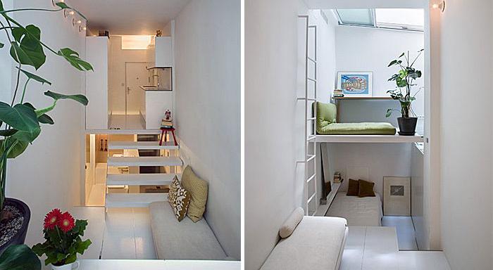 tạo nên nhiều tầng gác xép cho căn hộ