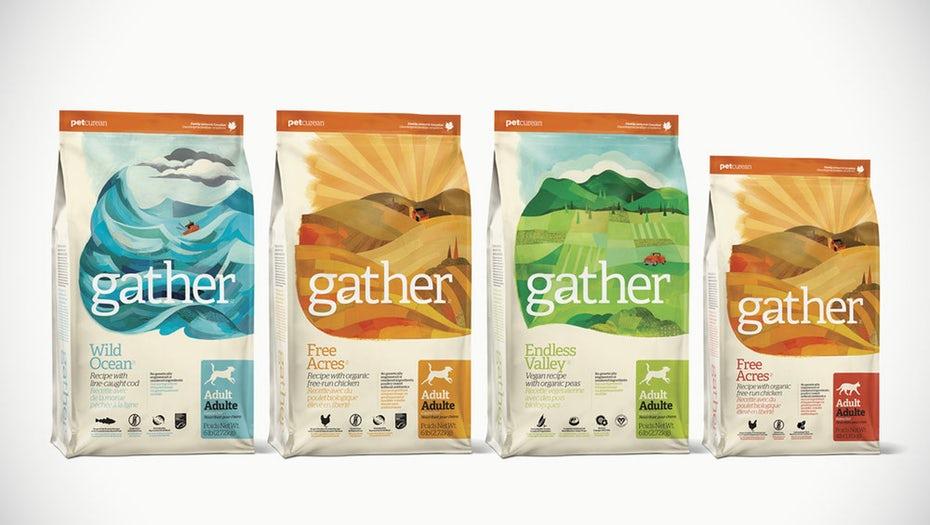 thiết kế bao bì của gather