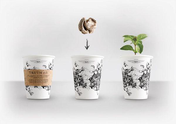 thiết kế bao bì của truth coffee