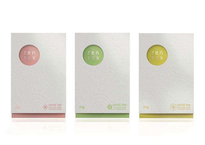 thiết kế bao bì của zen tea