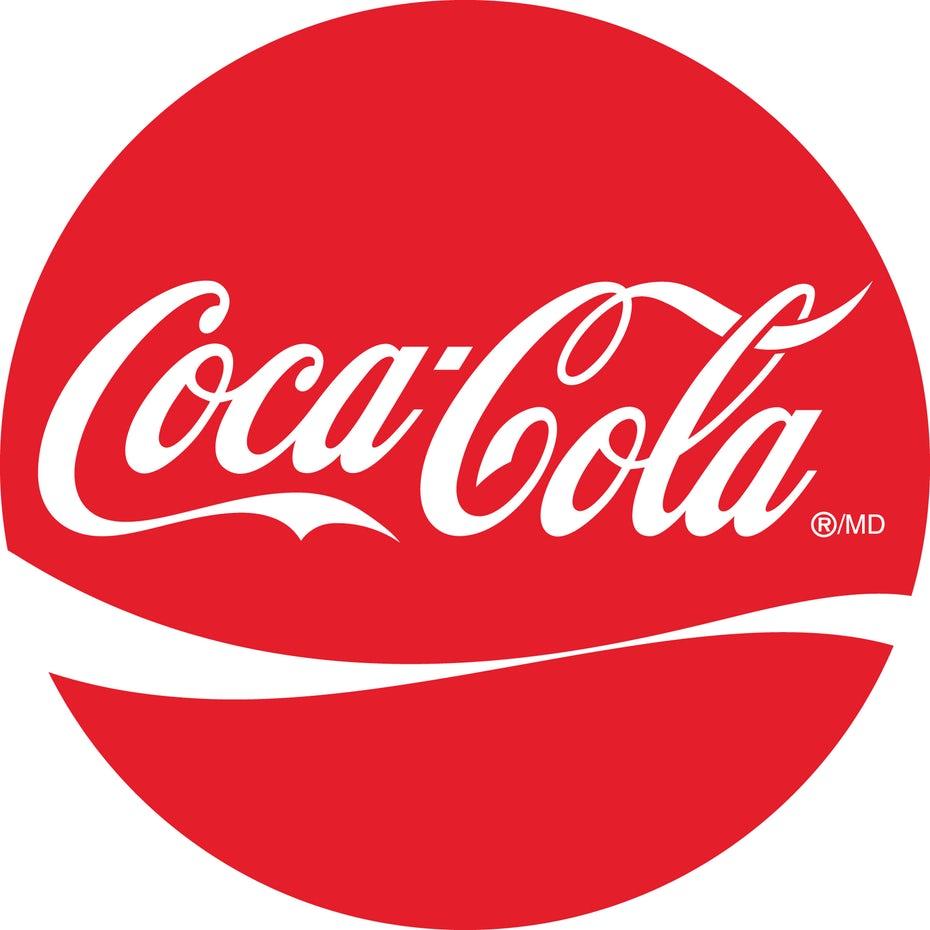 thiết kế logo của cocacola