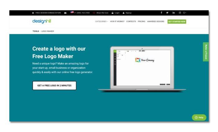 thiết kế logo online đẹp với Design Hill