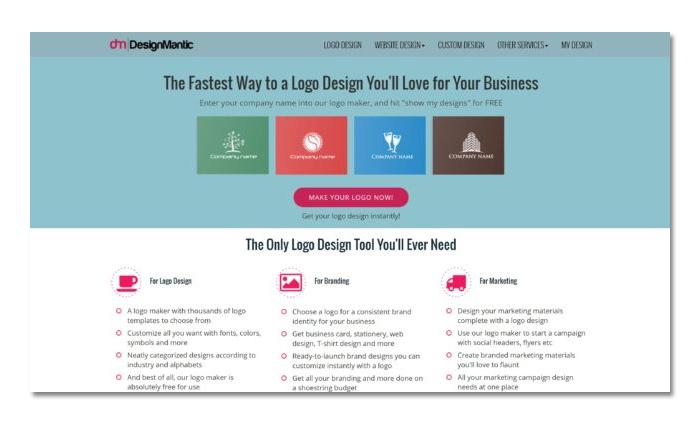 thiết kế logo online miễn phí với designmantic