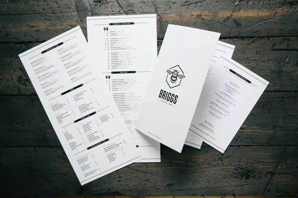 thiết kế menu briggs