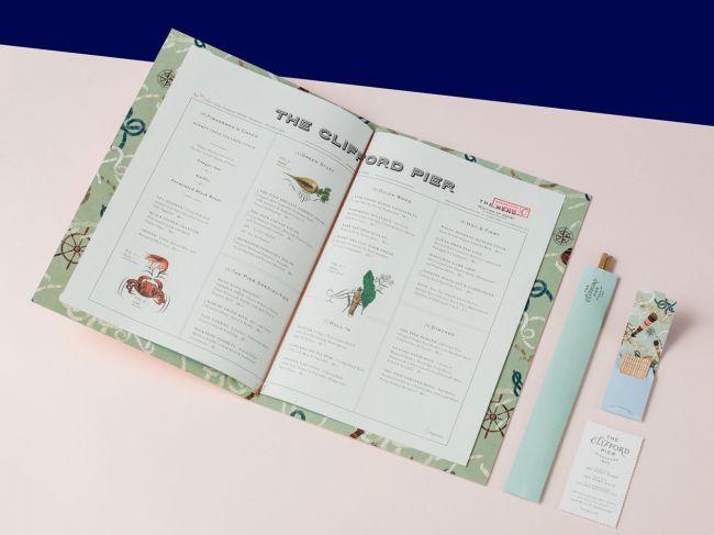 thiết kế menu the clifford
