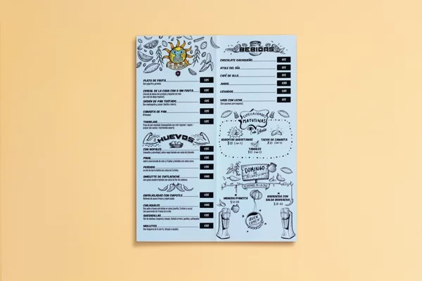 thiết kế menu El Carinito
