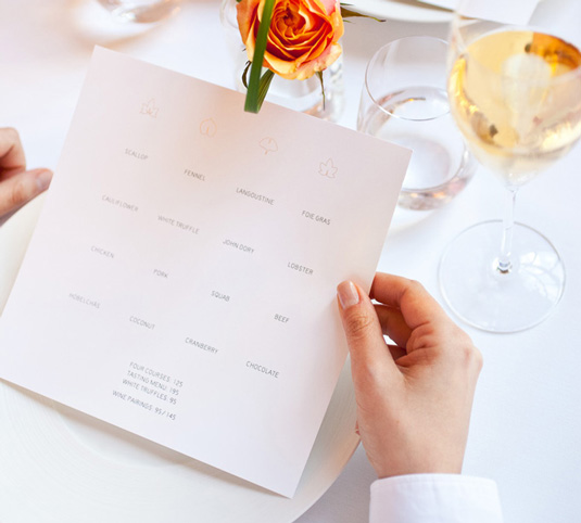 thiết kế menu eleven madison