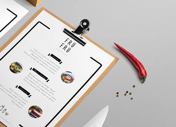 thiết kế menu frú frú