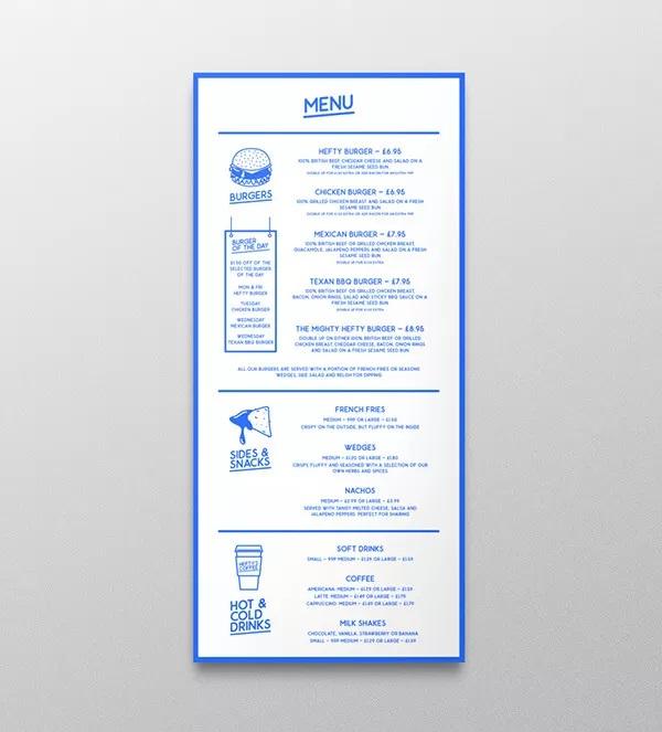 thiết kế menu hefty burger