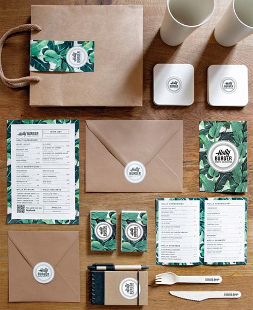 thiết kế menu holly burger