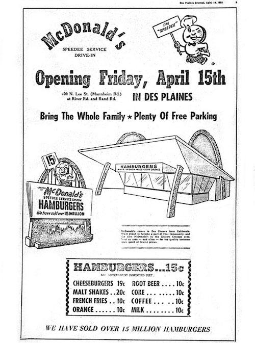 thiết kế menu mcdonald 1955